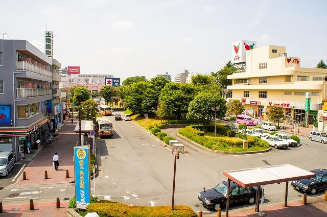駅西口全景